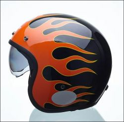 CAP LUCCA SUBLIME ON FIRE GLOSSY BLACK 58