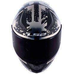 LS2 CAP RAPID FF353 SPY BLK/SILVER 60/L