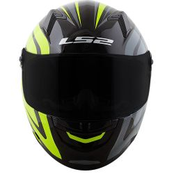 LS2 CAP FF358 TOURING BLK/GRY/FLO YELLOW 61/XL