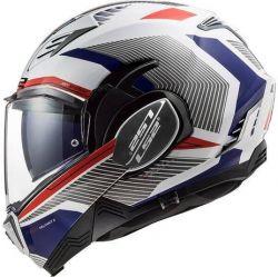 LS2 CAP VALIANT II FF900 REVO WHT/RED/BLUE 60/L